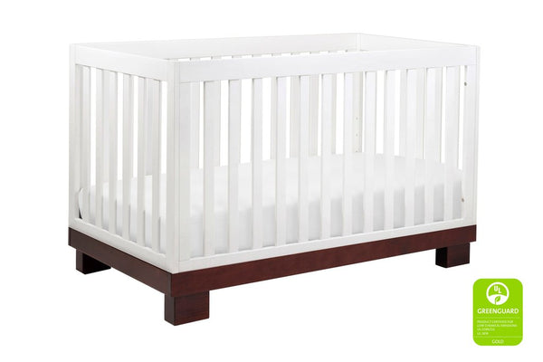 Modo 3 in 1 Convertible Crib with Toddler Bed Conversion Kit Available in a Variety of Colors
