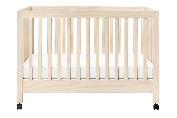 Maki Full-Size Folding Crib with Toddler Bed Conversion Kit Available in a Variety of Colors