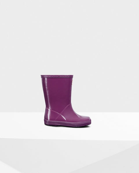 Original Kids First Classic Gloss Rain Boots in Violet