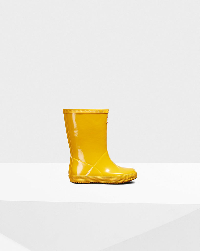 Original Kids First Classic Gloss Rain Boots in Yellow