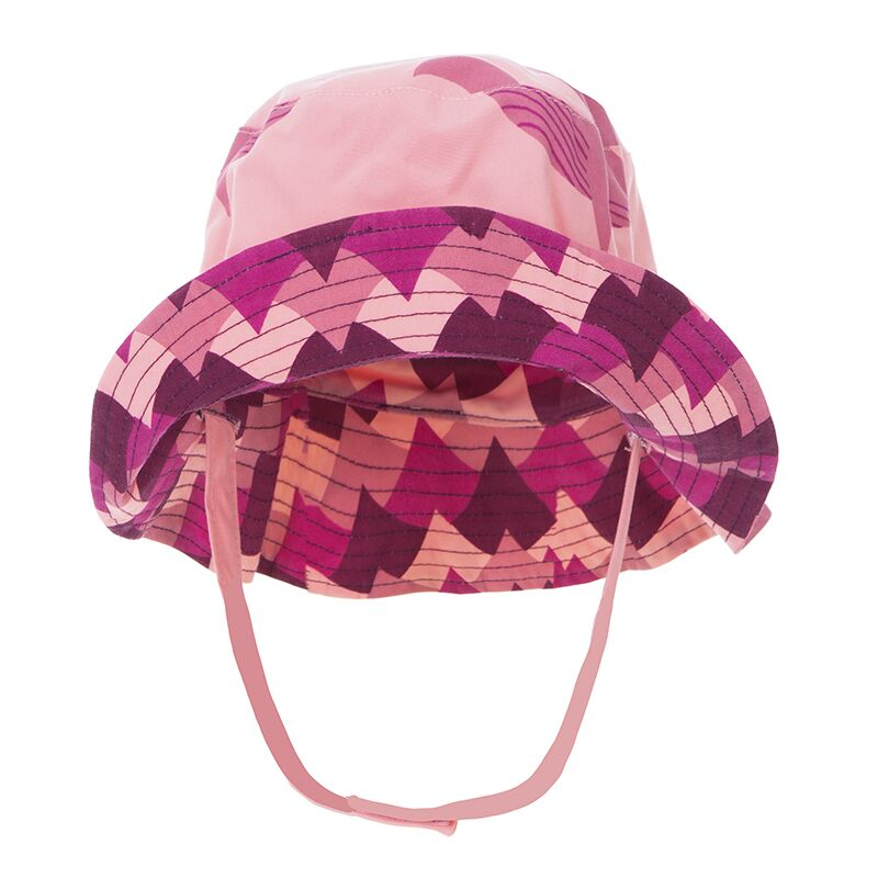 Print Reversible Bucket Hat in Lotus Whales and Melody Waves by Kickee Pants