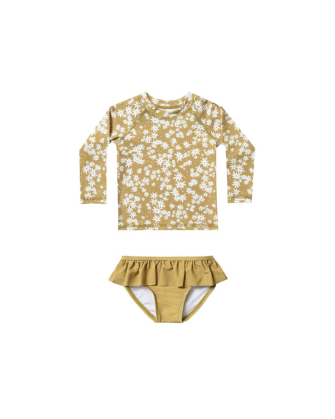 Rashguard Set in Scattered Daisy by Rylee + Cru