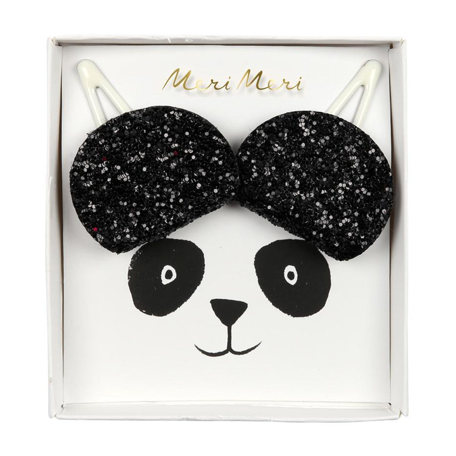 Panda Ears Hair Clips