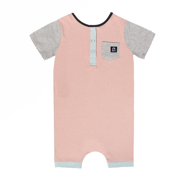 Short Sleeve Henley Short Rag in Adobe Rose by RAGS