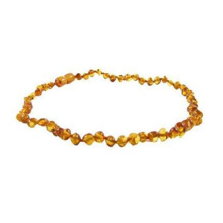 Polished Baroque Baltic Amber Necklace in Honey