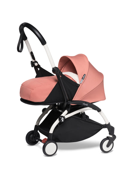 BABYZEN YOYO² Complete Stroller with Newborn Color Pack Fabric Set in Ginger with White Frame