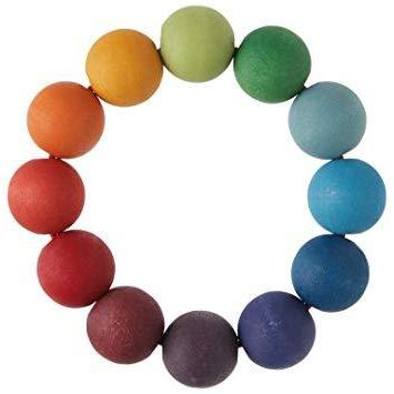 Rainbow Bead Ring Grasping Toy