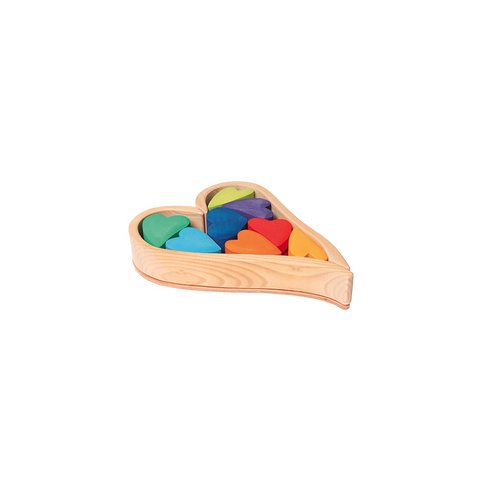 Rainbow Hearts Building Set by Grimm's