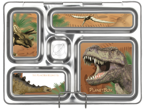 Rover Lunch Box Magnets in Dinosaurs