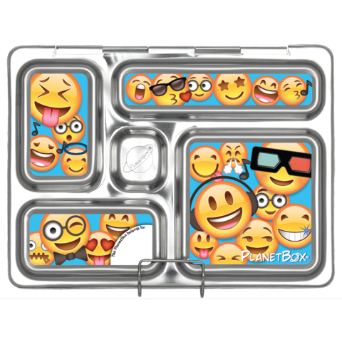 Rover Lunch Box Magnets in Emoticons