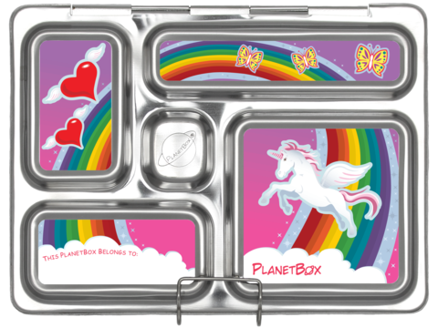 Rover Lunch Box Magnets in Rainbow