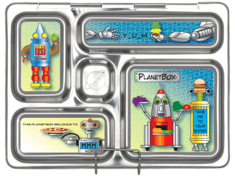 Rover Lunch Box Magnets in Robots