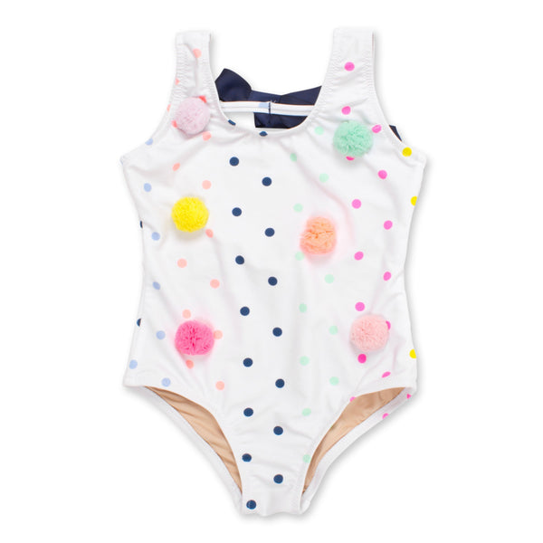 Scoop Swimsuit in Rainbow Dot