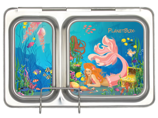 Shuttle Lunch Box Magnets in Mermaids