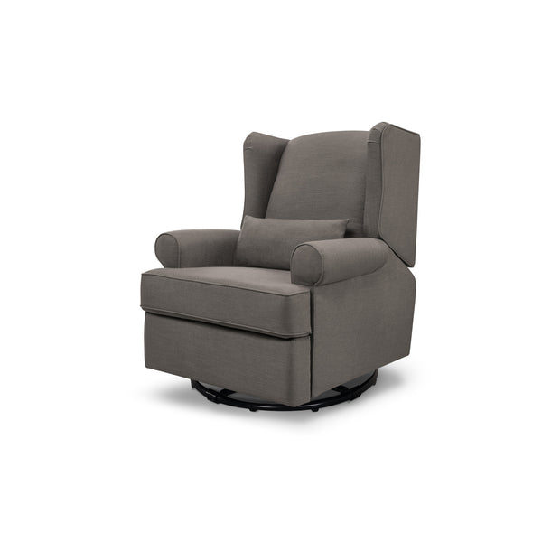Tahoma Wingback Recliner in Stone Grey Linen