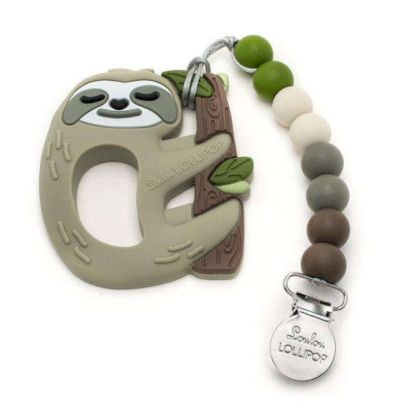 Teether Set in Sloth by Loulou Lollipop