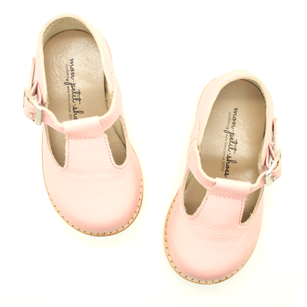 The Hard Soled T-Strap in Blush