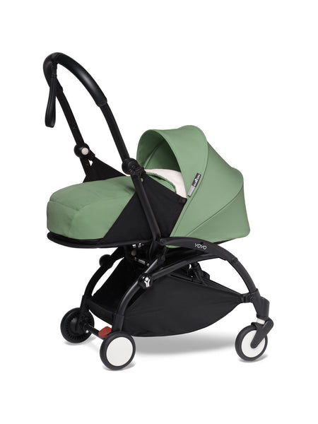 BABYZEN YOYO² Complete Stroller with Newborn Color Pack Fabric Set in Mint with Black Frame