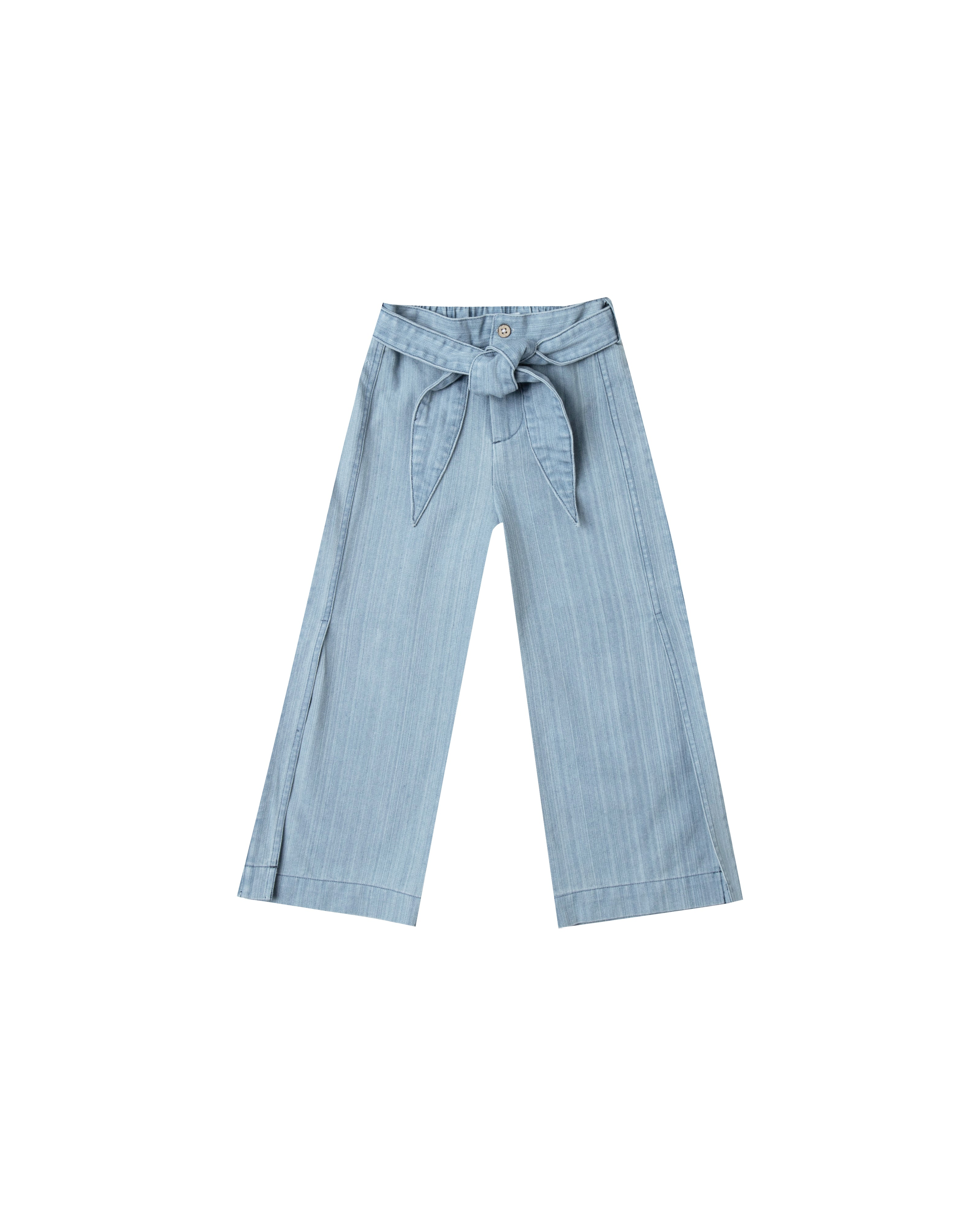 Wide Leg Pant in Washed Denim