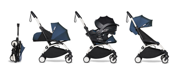 BABYZEN YOYO² Travel System with Newborn & Toddler Color Pack in Air France with White Frame