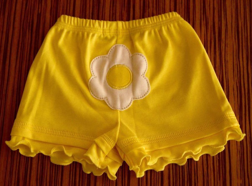 Short Amarillo Flor