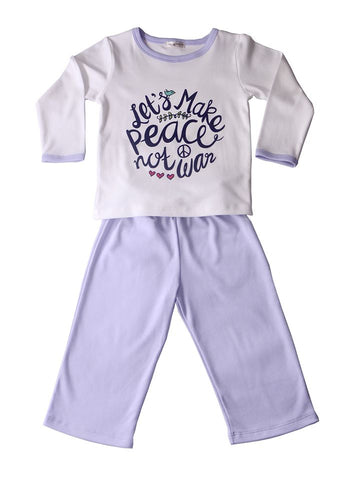 Pijama Let´s Make Peace Lila