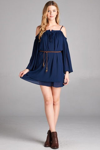 New Soul Navy Mini Dress