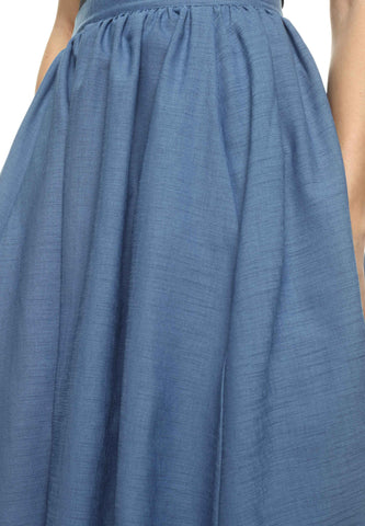 Catalina Island Solid Blue Skirt