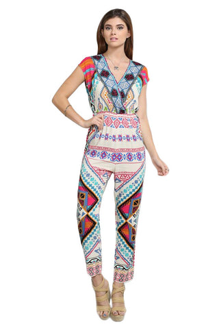 Hello New Africa Printed Jumpsuit