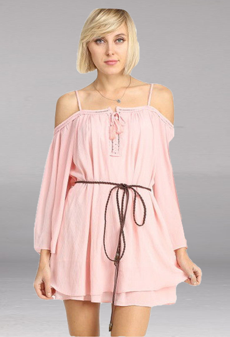 New Soul Pink Mini Dress