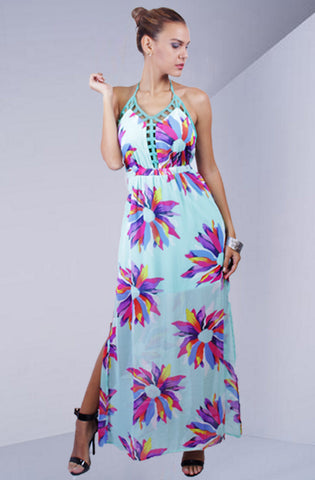 Bahama's Blue Maxi Dress