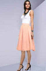 Catalina Island Solid Coral Skirt