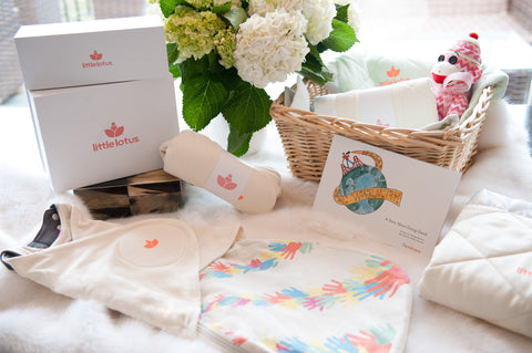 Little Lotus Swaddle and Gift Box Set