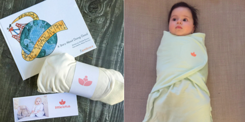 Children's Book, Little Lotus Swaddle and Baby in Little Lotus Swaddle