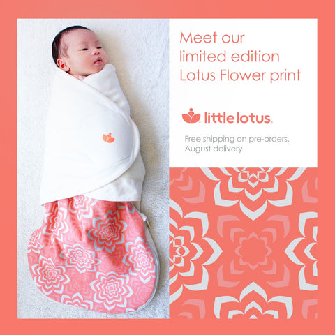 Baby in Little Lotus Flower Swaddle