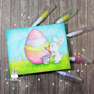 DIY Easter Card, Digital Stamp