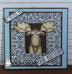 It moose be your Birthday - Card By Margreet