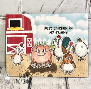 Chicken Scratch Friendship Card