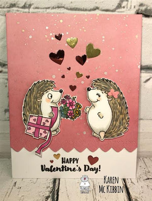 Hedgehog Valentines Day Card