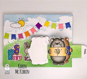 Sunshine Bear Mini Flip Slider Card
