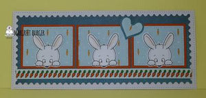 Bunnies love carrots - Sweet card by Margreet