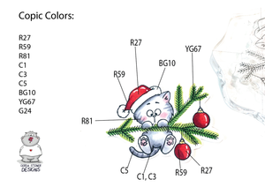 Coloring Map for the Chrismas Kitten