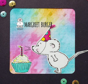 Make a Wish - Sweet Mouse Card by Margreet