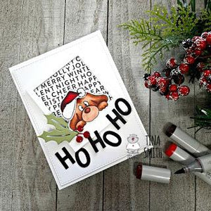 HO, HO, HO!!  A Fun Christmas Card Tutorial with Tina