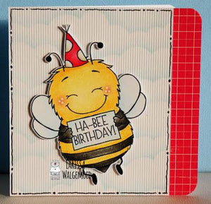 Ha-bee birthday card - Larissa