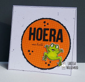 Frogs clear stamps - Hoera - Larissa