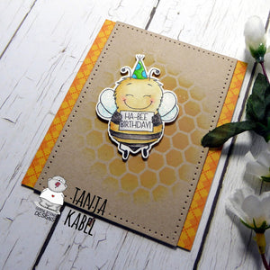 Ha-Bee Birthday - Cute Bee Birthday card by Tanja!