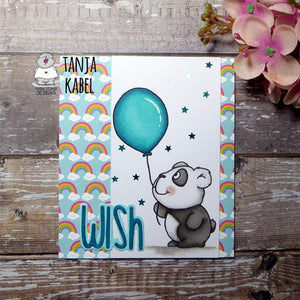 Wish Panda Card by Tanja