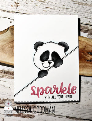 Cute Peeking Panda card  by Melissa