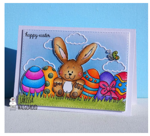 Happy Easter Bunny by Larissa - Digital Stamp